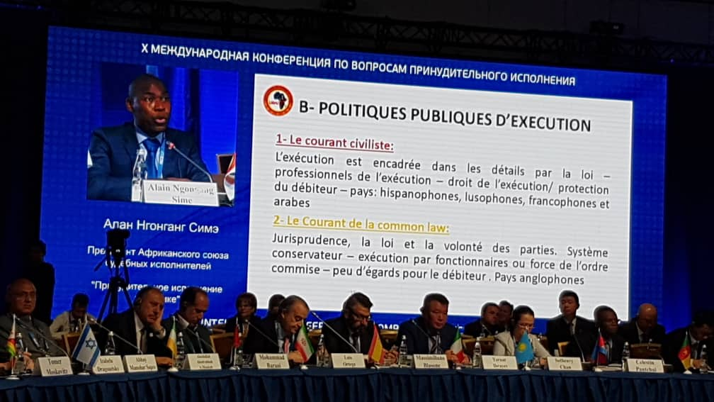 Xème CONFERENCE INTERNATIONALE DE RUSSIE  SUR  L'EXECUTION FORCEE